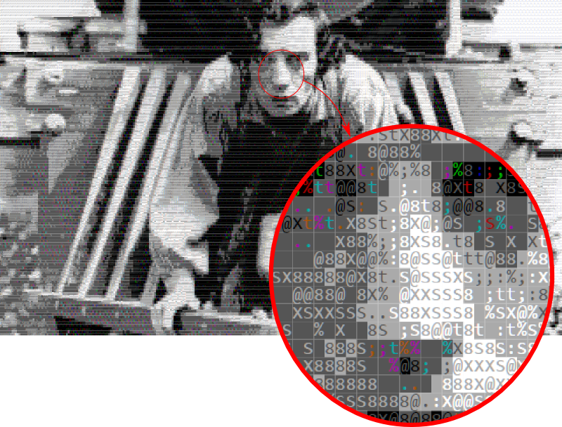 Detail of ASCII Buster Keaton