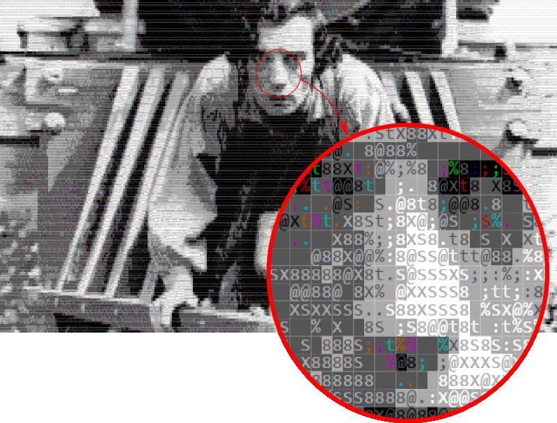 Detail of ASCII Buster Keaton