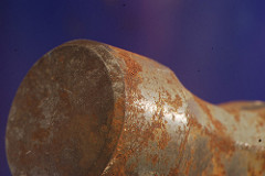 close up of rusty hammer